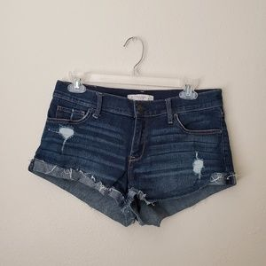 Abercrombie & Fitch Dark Wash Distressed Shorts 4